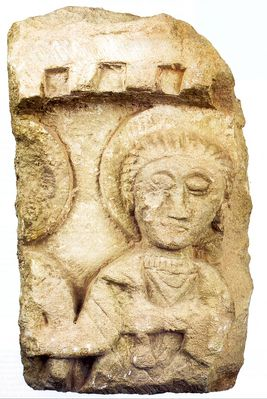 Relief of a saint (fragment)