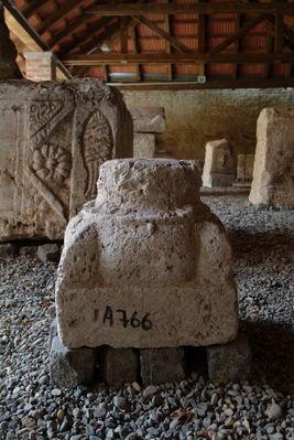 Base of a romanesque stone column